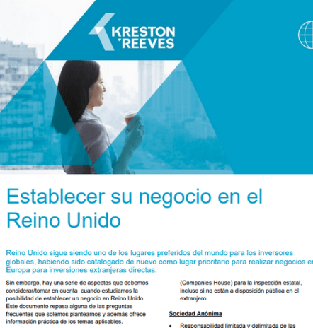 Setting up your business in the UK (SPANISH) Establecer un negocio en el Reino Unido – Aspectos de consideración