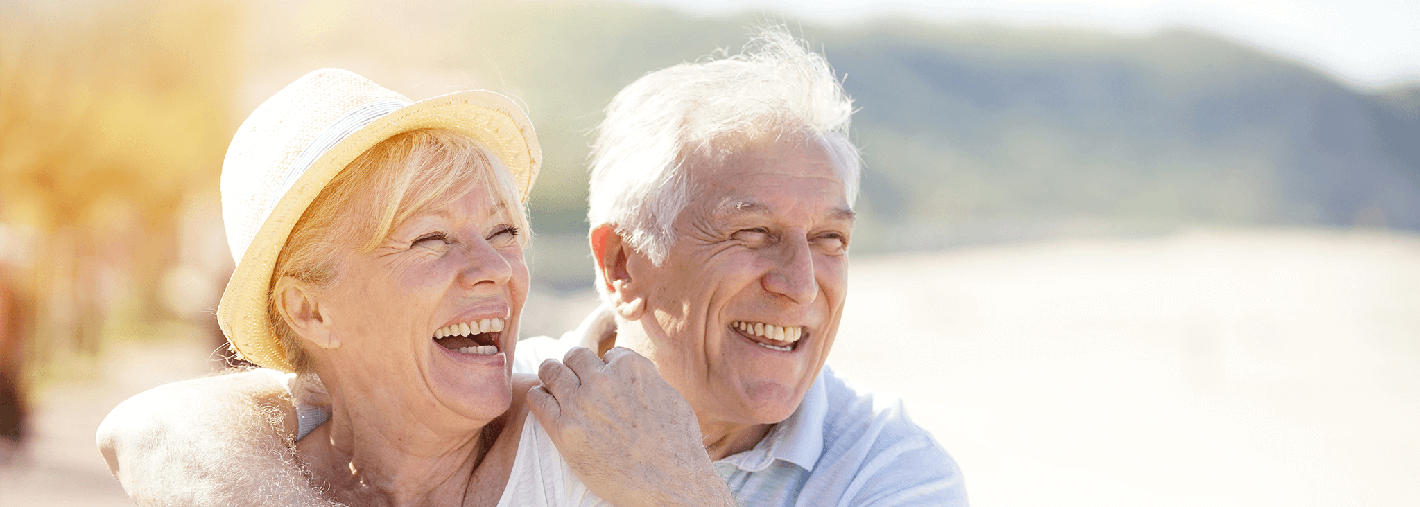 Saving towards retirement - Retirement couple on holiday - Retirement planning and pensions