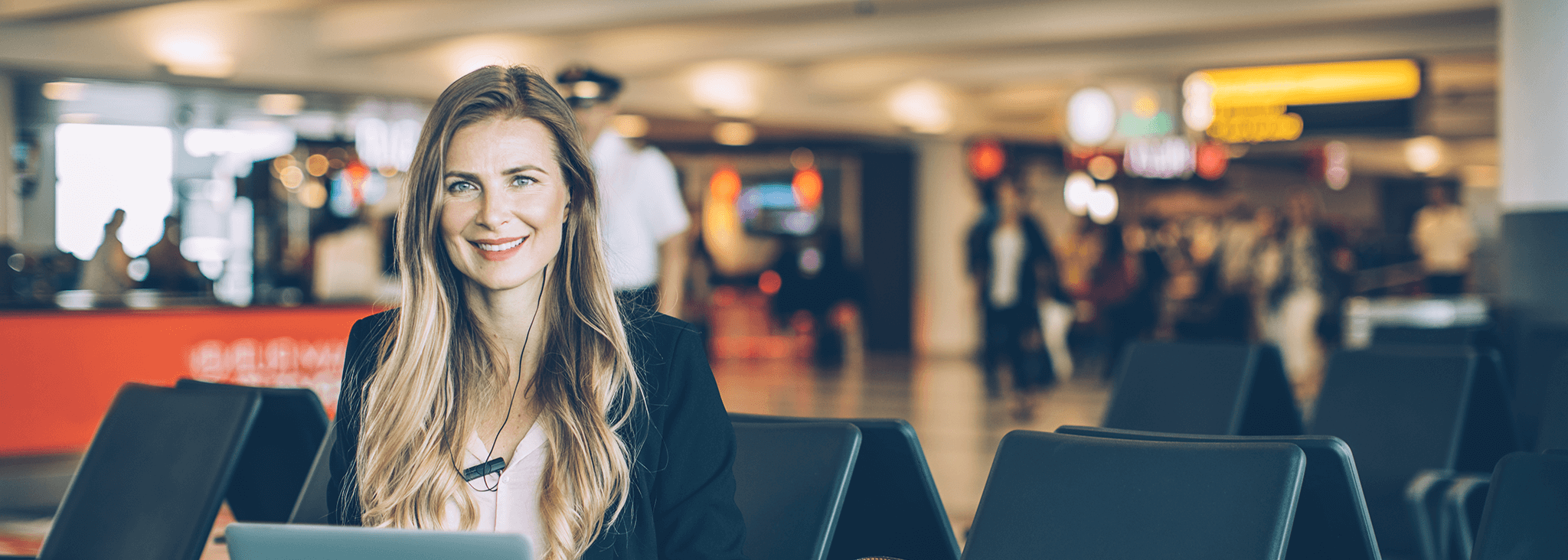 Services to the travel industry - Woman in airport