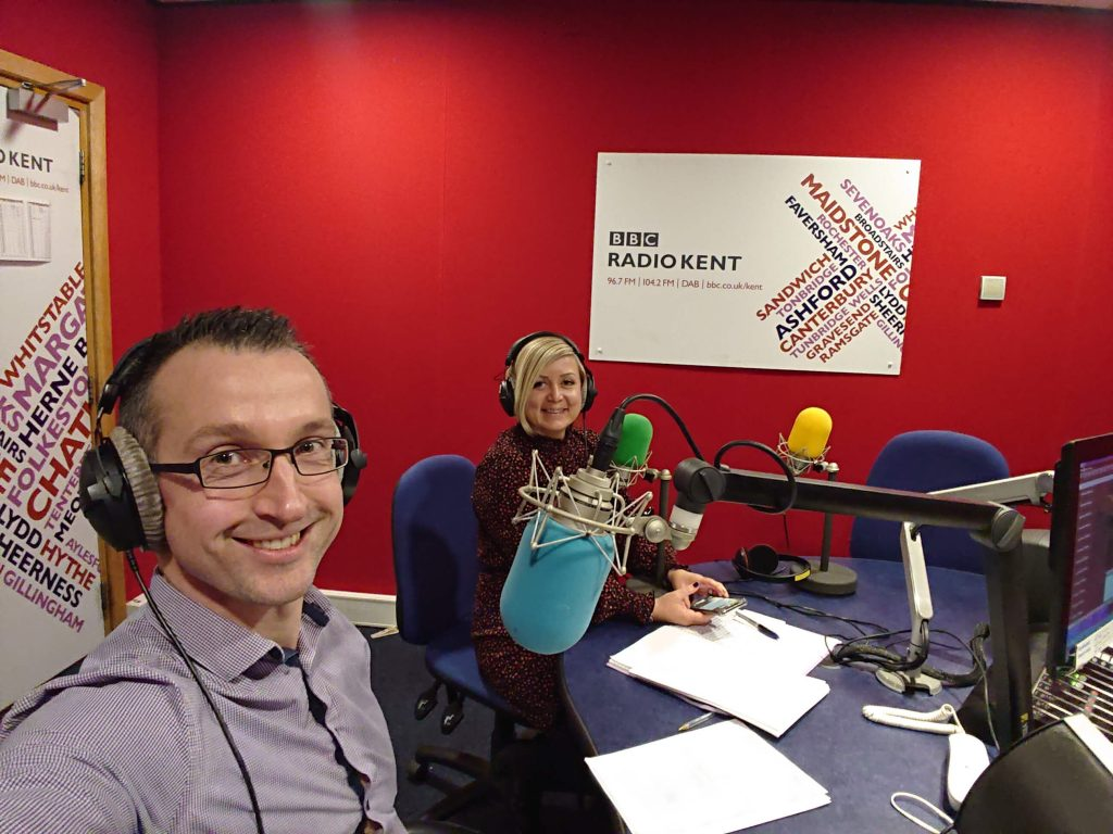 Mark Attwood and Belinda Collins BBC Radio Kent