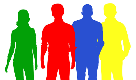 Surrounded by idiots - colourful silhouettes