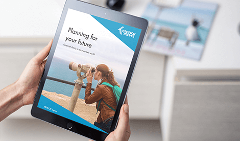 Planning for your future report open on tablet device