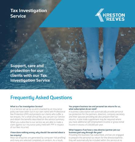 Tax Investigation Service FAQ